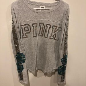 PINK Victoria's Secret Bling Palm Long Sleeve